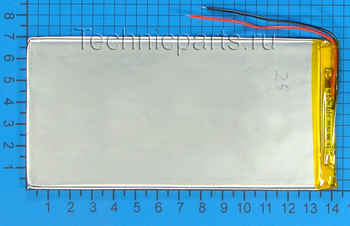 Аккумулятор 3x140x70мм 3.7V 4000mAh 2 провода