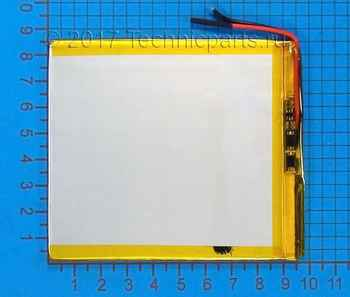 Аккумулятор 308595 3.7V 3450mAh 2 провода