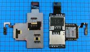 Разъем sim и flash карты с шлейфом для HTC Desire V T328w