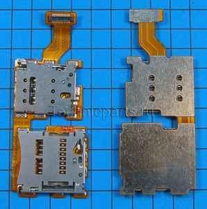 Разъем sim и flash карты с шлейфом для HTC One A9