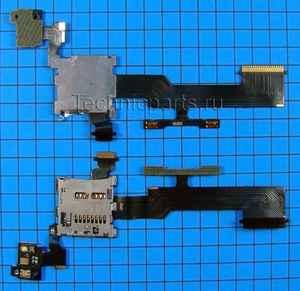 Разъем flash карты с шлейфом для HTC One M8