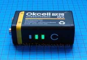 Аккумулятор крона OKcell 9V 800mAh micro usb