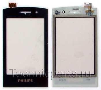 Сенсор (тачскрин) для телефона Philips Xenium W727