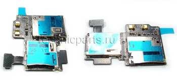Разъем sim карты с разъемом карты памяти Samsung Galaxy S4 GT-I9500