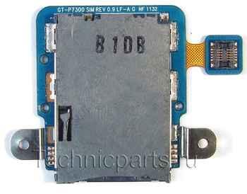 Разъем sim карты для планшета Samsung P7300