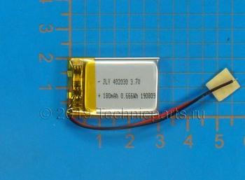 Аккумулятор 402030 3.7V 180mAh 2 провода: купить по выгодной цене с доставкой в интернет-магазине запчастей Техникпартс.
