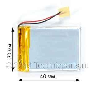 Аккумулятор 303040 3.7V 500mAh 2 провода
