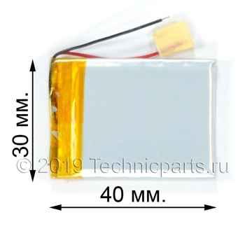 Аккумулятор 403040 3.7V 450mAh 2 провода: купить по выгодной цене с доставкой в интернет-магазине запчастей Техникпартс.