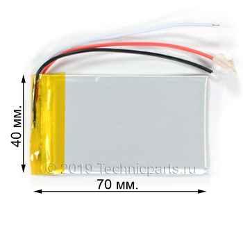 Аккумулятор 404070 3.7V 1000mAh 3 провода