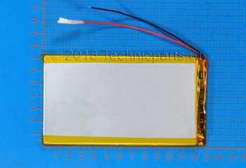 Аккумулятор 3x130x75мм 3.7V 4000mAh 2 провода