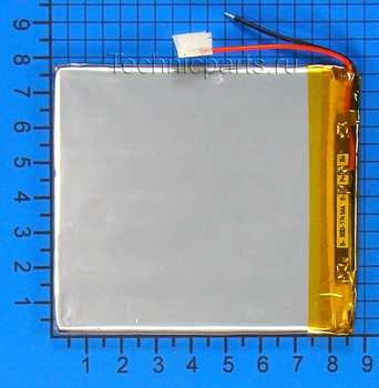 Аккумулятор 307585 3.7V 3200mAh 2 провода