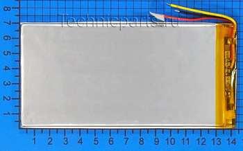 Аккумулятор 3x140x70мм 3.7V 3000mAh 3 провода: купить по выгодной цене с доставкой в интернет-магазине запчастей Техникпартс.
