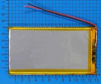 Аккумулятор 4x130x70 мм 3.7V 4000mAh 3 провода