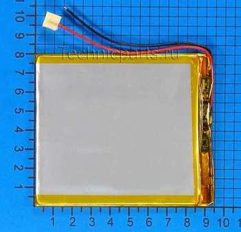 Аккумулятор 3x90x80мм 3.7V 2200mAh 2 провода