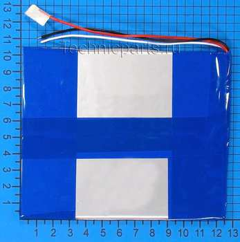Аккумулятор 3x125x105мм 3.7V 5000mAh 2 провода