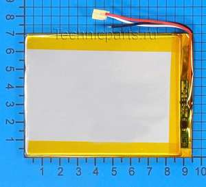 Аккумулятор 3x95x70мм 3.7V 2500mAh 3 провода