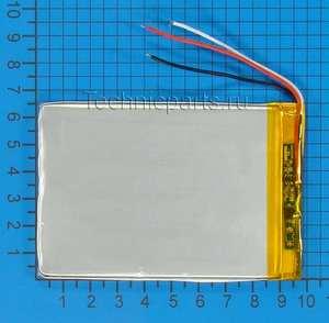 Аккумулятор 306595 3.7V 2200mAh 3 провода