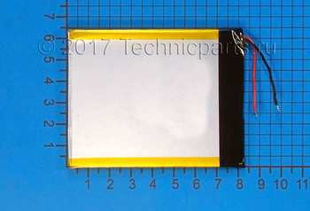 Аккумулятор 4x80x65мм 3.7V 2800mAh 2 провода