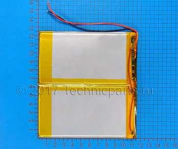 Аккумулятор 30115125 3.7V 5000mAh 2 провода