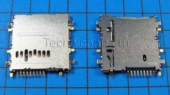 Разъем flash карты памяти Samsung Galaxy Tab 3 SM-T310