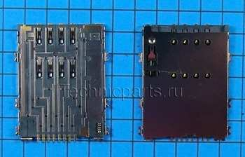 Разъем sim карты для планшета Samsung P6800