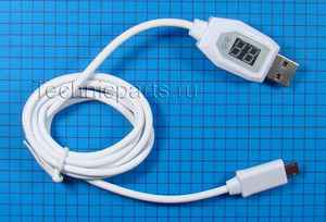 Usb (micro usb) кабель индикатор тока и напряжения