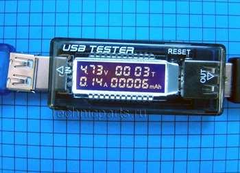 Usb тестер измерения тока напряжения емкости заряда