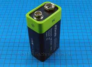 Аккумулятор крона znter 9V 400mAh micro usb